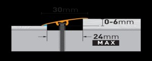Profil tranzitie din aluminiu CS1 0,9ml auriu