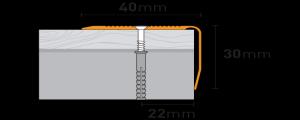 Profil scara din aluminiu PS8 1,2ml argintiu
