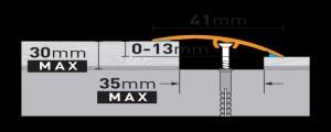 Profil tranzitie din aluminiu SM2 0,9ml stejar W27